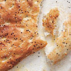 Turkish Flatbread with Sesame Seeds (Pide Ekmeği or Ramazan Pidesi) | Williams-Sonoma {recipe}