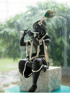 Sri Krishna Jayanthi or Krishna Janmashtami 2020 Rituals assures success in all spheres and eliminates all negative influences. Hare Krishna, Krishna Leela, Jai Shree Krishna, Radha Krishna Images, Lord Krishna Images, Radha Krishna Photo, Radha Krishna Love, Krishna Statue, Krishna Flute