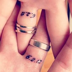 Mark and i want a wedding tattoo. Either this or a mr. And mrs. :) cant wait!! Date married would be 4.24.13