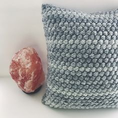 A personal favorite from my Etsy shop https://www.etsy.com/listing/513528019/grey-denim-bobble-pillow-decorative