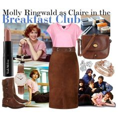 Molly Ringwald as Claire- Breakfast Club 80s Party Outfits, Movie Inspired Outfits, Club Outfits, Movie Outfits, Eat Breakfast, Breakfast Club Costume, 80s Fashion, Fashion Outfits, Costumes