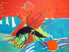 Mosquito in Red by Octavia Milner