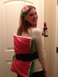 Sushi roll costume - easy to make!