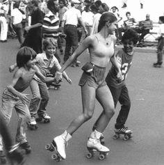 Rollerskating on Venice Beach.