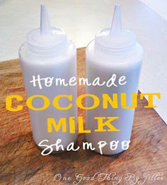 "Recipe for homemade shampoo on ""One Good Thing"" blog...may try for the fun of it"