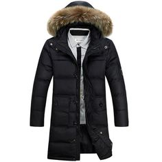 1bf9524ad08 2016 New Fashion Winter Coat Men Warm Down Male Fur Hooded Long Thickening White  Duck Down Jacket Outwear Casual Solid Parkas