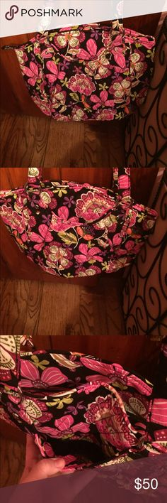 "Vera Bradley ""Glenna"" Shoulder Bag (Pattern: Pirouette Pink)      Carried once; great condition; zip top closure, slip pockets on front and back, spacious interior compartment with zip pocket and 3 slip pockets inside Vera Bradley Bags Shoulder Bags"