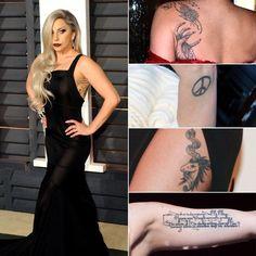 Pin for Later: Stars et Tatouages, une Grande Histoire D'amour  Lady Gaga fait partie des stars qui sont devenues accro aux tatouages, et en a plusieurs.