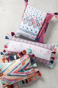Anthropologie Tasseled Medina Pillow - [ad]