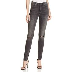 Cheap Monday Second Skin Skinny Jeans in Shadow ($90) ❤ liked on Polyvore featuring jeans, shadow, stretch denim skinny jeans, skinny fit jeans, cheap monday, cut skinny jeans and skinny leg jeans