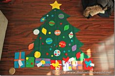 Christmas Felt Tree- add bible verses or 'days of Chrismas'