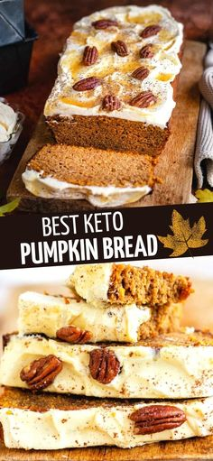 Keto Pumpkin Bread that's easy to make, delicious and gluten free? Yes this really is THE best low carb pumpkin bread made with almond and coconut flour and packed with warming spices.