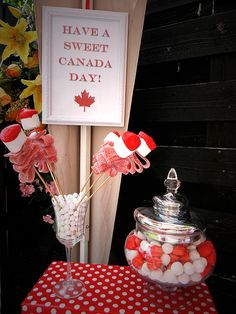 roses made of candy at canda day