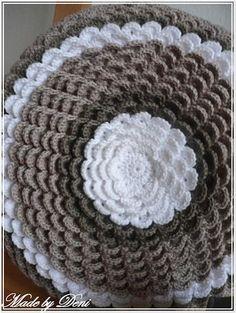 Made by Deni: ... háčkovaná květina - návod ...