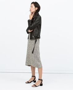 ZIPPED LEATHER BIKER JACKET-Outerwear-WOMAN | ZARA United States