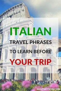 You may not have time to learn an entire language, especially if you only plan on doing a short vacation in Italy, but while I was traveling through Rome, Florence and Venice, I found these top ten Italian travel phrases to be the most useful.