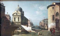 ベルナルド・ベッロット (Bernardo Bellotto)「PArchitectural fantasy with Santa Maria dei Miracoli, Venice」ニーダーザクセン州立博物館
