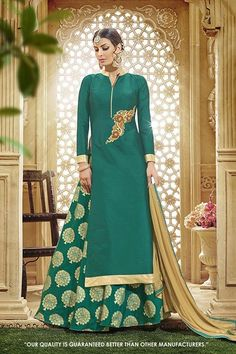 Festival Wear Green Taffeta Silk Lehenga Suit - 71419