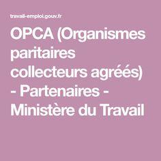 OPCA (Organismes paritaires collecteurs agréés) - Partenaires - Ministère du Travail