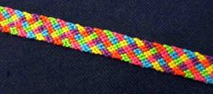 """Braided"" friendship bracelet pattern"