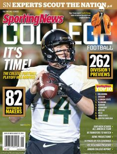 Bryce Petty on the cover, and #Baylor football in the preseason top 10 for 2014. #SicEm