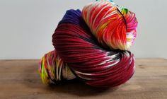 Over the Moon~ Hand Painted-Hand Dyed Superwash Merino & Nylon Sock Yarn- 420yds - sw merino 80/20- Day of the Dead by TheHummingbirdMoon on Etsy