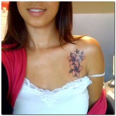 Orchid Flower tattoo for girl