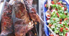Ribsit hirvestä 1,5 kg ribsejä hirvestä 4 valkosipulinkynttä murskattuna rouhittua mustapippuria 1 rkl rosmariinia 2 tl hun... Steak, Pork, Kale Stir Fry, Steaks, Pork Chops