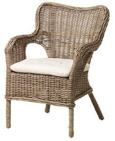 BYHOLMA / MARIEBERG -Chair, gray, Laila natural