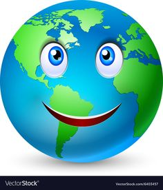 Smiling planet earth vector image on VectorStock Save Planet Earth, Save The Planet, Daycare Crafts, Crafts For Kids, Earth Clipart, Scary Scarecrow, Earth Day Projects, Eyelash Logo, Cute Emoji