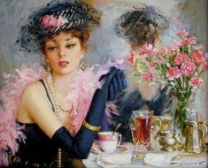 Kutular yavaş yavaş boyanmaya başlandı :)     Bittikce yayınlarım.         Şu kadının güzelliğine, zerafetine bakarmısınız. :)        Z...