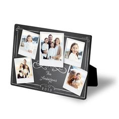 One of our new chalkboard style designs with Polaroid frames! This is a 5x7 glossy easel.