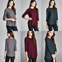 T15463 Semi-loose fit three-quarter length sleeves round neck raglan top. Rounded hems. Sleeves are cuffed and tacked. This top is made with brushed two-toned hacci knit fabric that has a very soft fuzzy texture drapes well and is very warm. This fabric has great stretch. #cherishusa #cherishapparel #shopcherish #fallfashion #fashionbuyer #boutique #fashion #fashiondiaries #instafashion #instastyle #fashionstyle #ootd #fashionable #fashiongram #fallstyle #clothingbrand #fall2015 #hacci #tops…