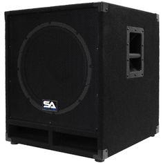 Seismic Audio Powered Subwoofer Cabinet Pa Dj Pro Band Speaker Active Sub 15 Subwoofer, Passive Subwoofer, Powered Subwoofer, Hifi Audio, Audio Speakers, Dj Stage, Satellite Speakers, Dj Pro