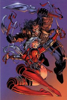 Wolverine and Zealot by Jim Lee