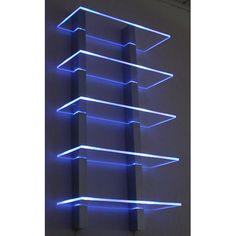 Etagère lumineuse Led Futuristic Bedroom, Futuristic Interior, Futuristic Furniture, 12v Led Strip Lights, Strip Lighting, Lounge Design, Couch Furniture, Furniture Decor, Furniture Design