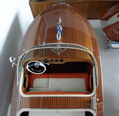 a look at designboom& trip to the riva boatyard on iseo lake in sarnico, italy. Riva Boat, Yacht Boat, Sailing Boat, Wooden Speed Boats, Classic Wooden Boats, Classic Boat, Classic Yachts, Runabout Boat, Vintage Boats