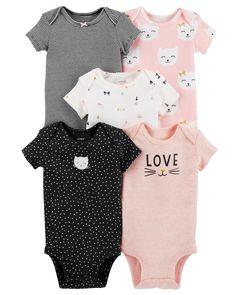 Carter/'s 4 Pack Long Sleeve Elephant Bird Bodysuits Set Girls 9 18 months NWT