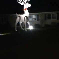 Giant Reindeer Christmas Decoration - a holiday shop bot class idea?