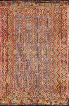 "Turkish kilim, wool, 7'4"" X 10'11"", 1950, Keivan Woven Arts Gallery"