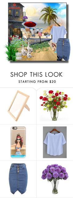 """""""SheIn"""" by erina-salkic ❤ liked on Polyvore featuring Nearly Natural, Casetify and Bastien"""