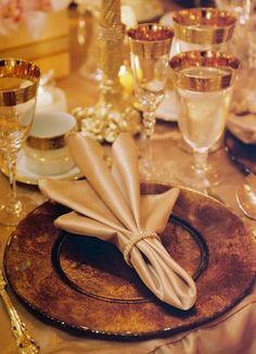Simple but stylish way to enhance your reception decor. Wedding Napkin Folding, Wedding Napkins, Le Jocker, Wedding Reception Decorations, Table Decorations, Wedding Ideas, Lodge Style Decorating, Banquet Tables, Party Tables