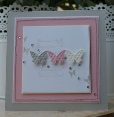 cards in pink, white and cream. Wedding cards in pink, white and cream. Wedding cards in pink, white and cream. Pretty Cards, Cute Cards, Diy Cards, Tarjetas Stampin Up, Stampin Up Cards, Ideas Scrapbook, Scrapbook Cards, Butterfly Cards, Card Making Inspiration