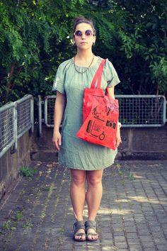"""Stofftasche """"Tascheninhalt"""" von Granatapfel - Onlineshop mit Illustriertem. auf DaWanda.com"""