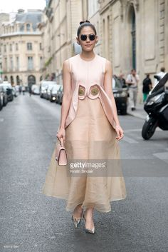 Thai Actress Araya Alberta Hargate wears a Delpozo dress, Moyet bag, Prada shoes and The Row sunglasses on day 4 of Paris Fashion Week Haute Couture Autumn/Winter 2015 on July 8, 2015 in Paris, France. (Photo by Kirstin Sinclair/Getty Images)Araya Alberta Hargate