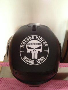 Vinilos para el casco de los Marron Riders.