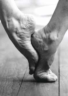 "The exhibition 'feet of contemporary choreographers' by Lisa Rastl and Willi Dorner presents dance artists in relationship with their extremities, of which Mathilde Monnier says: ""La dance, c'est le pied"" - Dancing means the feet. #dance"