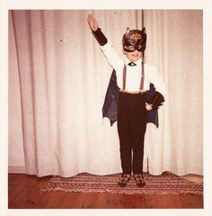They were ALWAYS dressing up as Bat Man