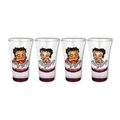 Coffret 4 mini verres Betty Boop SUD CARGO
