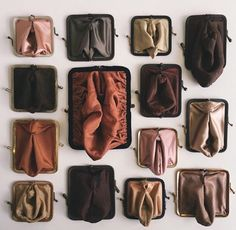 """ignacioararipe:  """" hahamagartconnect:  """" THINGS WE LOVE: the Suzanna Scott (@suzanna_scott) 'Coin Cunt' project - old kisslock coin purses, turned inside out, folded and stitched to resemble a vulva.  """"  Bocetinhas…  """""""